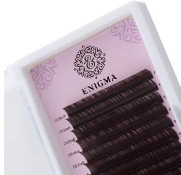 Черные ресницы Enigma, 16 линий, микс 8-14 D 0.07
