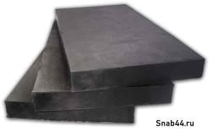 Техпластина для дорожной техники 500х250х40мм (металлический тросс 6 мм)