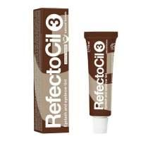 RefectoCil, Краска для бровей и ресниц № 3 коричневая, 15 мл