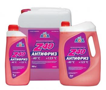 Антифриз Z40 Красный готовый к применению AGA 5 кг